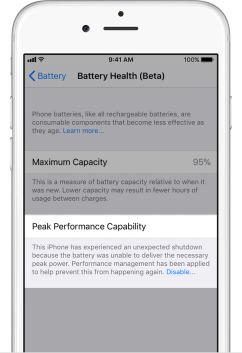 iphone ios 11 3 healthy battery maximum capacity speed throttle 3 - كيف تعطل خاصية إبطاء آيفون في نظام iOS 11.3؟