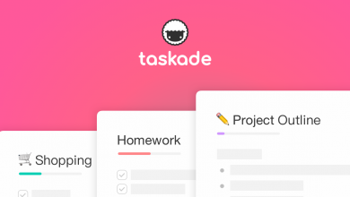 taskade logo 390x220 - تطبيق Taskade لإدارة المهام والتصنيف وتنظيمها في قوائم بكل سهولة متاح لكل الهواتف الذكية