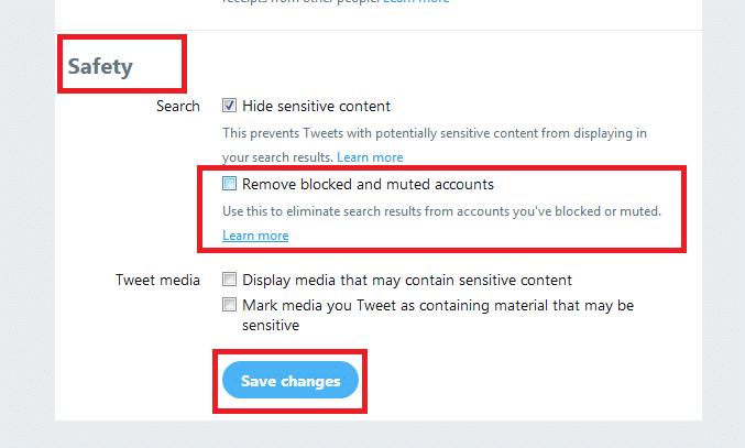 Remove blocked and muted accounts - خطوات تجاهل حسابات وتغريدات المتابعين المزعجين على تويتر دون إخطارهم