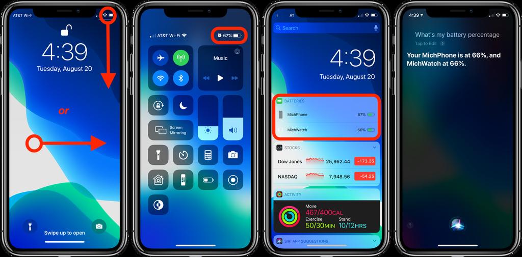 نسبة البطارية على أجهزة iPhone X - بالشرح.. تعرف على كيفية إظهار نسبة البطارية على أجهزة آيفون X وXR وXS
