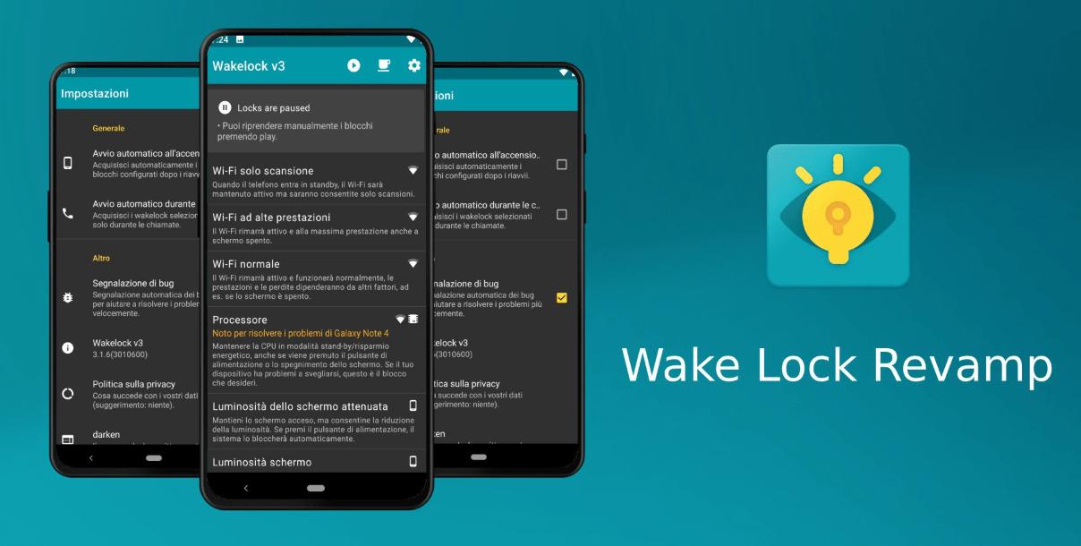 Wake Lock Revamp6 - تطبيق Wakelock Revamp يعمل على زيادة أداء الجوالات الذكية والأجهزة اللوحية