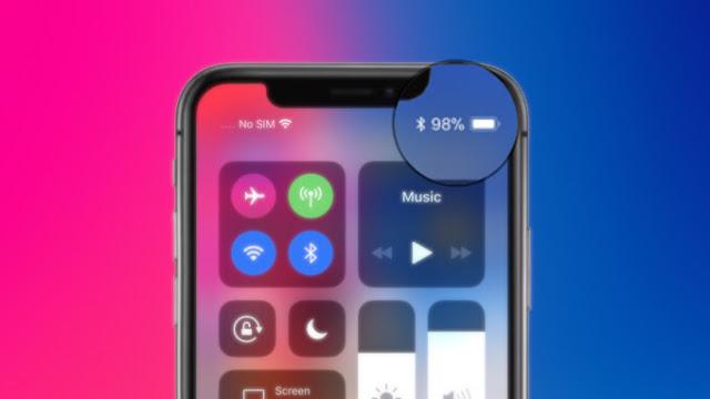 iphone x battery percentage 1 - بالشرح.. تعرف على كيفية إظهار نسبة البطارية على أجهزة آيفون X وXR وXS